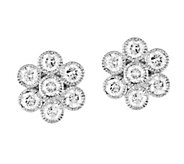 Floral Stud Earrings, 14K Gold, 9/10 cttw, by Affinity - J344241