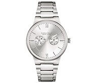 Caravelle New York Mens Silvertone Watch, Multifunction Dial - J344441