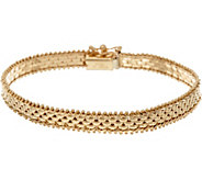 Imperial Gold 7-1/4 Panther Link Riccio Bracelet, 14K, 11.3g - J346841