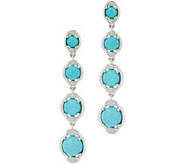 Sleeping Beauty Turquoise Sterling Silver Drop Earrings - J349741