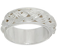 Sterling Silver Braided Inlay Band Ring by Silver Style - J349841