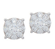 98 Facet Diamond Cluster Design Studs, 3/4 cttw, 14K, by Affinity - J352241