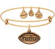Alex and Ani Goldtone NFL Football Charm Bangle - J352641