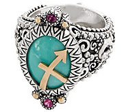 Barbara Bixby Sterling Silver & 18K Gold Horoscope Ring - J357141
