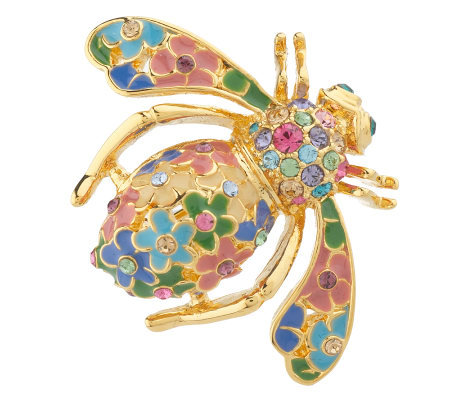 Joan Rivers Four Seasons of Bees Spring Pin