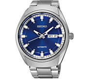 Seiko Recraft Automatic Blue Dial Stainless Steel Mens Watch - J376241