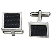 Forza Stainless Steel Carbon Fiber Cuff Links - J109442