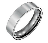 Forza Mens 6mm Steel Flat Polished Ring - J109542