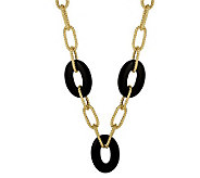 Arte dOro 18 Gemstone Station Link Necklace,18K 14.0g - J110242