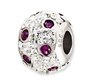 Prerogatives Sterling Spotted Purple Crystal Bead - J113242