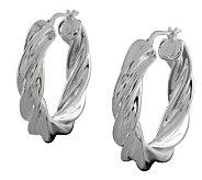 UltraFine Silver 1-1/8 Polished Twisted RoundHoop Earrings - J113942