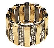 Luxe Rachel Zoe Arch of Texture & Pave Stretch Bracelet - J265142