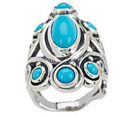 Carolyn Pollack Sleeping Beauty Turquoise Sterling Ring - J271042