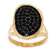 As Is Adi Paz 1.00 cttw Black Spinel Freeform Design Ring, 14K Gold - J295142