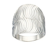 As Is 14K Gold Polished & Textured Swirl Design Ring - J296842