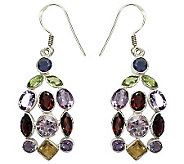 Novica Artisan Crafted Sterling Color CurtainGem Earrings - J307542