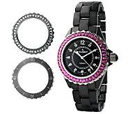 Peugeot Womens Swiss Interchangeable Bezel Set Watch - J308642