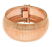 Bronze 7-1/4 Polished Wide Omega Bracelet by Bronzo Italia - J311742