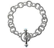 Judith Ripka 5th Avenue 8 Topaz Link Bracelet , Sterling - J312342