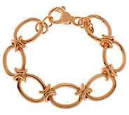 Bronze 7-1/4 Polished Oval Link Bracelet by Bronzo Italia - J312442