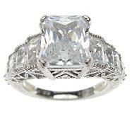 Judith Ripka Sterling Diamonique Radiant-Cut Ring - J313542