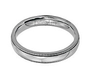 Stainless Steel 4mm Polished Milgrain Engravable Ring - J314242