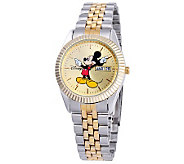 Disney Mens Mickey Two-Tone Watch - J315542