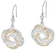 JMH Jewellery Sterling Silver Love Knot Drop Earrings - J318742
