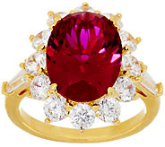 The Elizabeth Taylor 5.05cttw The Perfect Simulated Ruby Ring - J319842