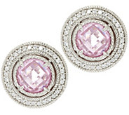 Judith Ripka Sterling Diamonique 5.65 ct tw Stud Earrings - J320142