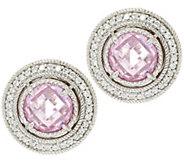 Judith Ripka Sterling Diamonique 5.65 ct tw Stud Earrings - J320142