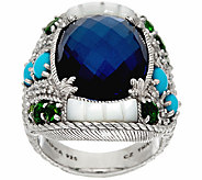 Judith Ripka Sterling Multi-Gemstone & Diamonique Ring - J323942