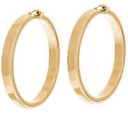 Oro Nuovo 2 Polished Round Hoop Earrings, 14K - J324642