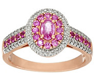 0.50 ct tw Pink Sapphire & 1/7 ct tw Diamond Ring 14K Gold - J325342