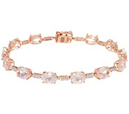 Morganite 8 Tennis Bracelet 14K Gold 11.00 cttw - J329442