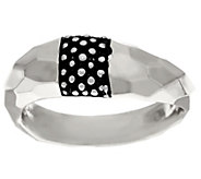 As Is Michael Dawkins Sterling Hammered & Texture Ring - J329842