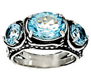 Sterling Silver 3-Stone Gemstone Ring by Or Paz 3.50 cts - J330242