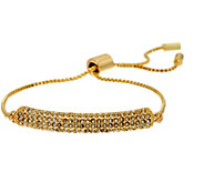 H by Halston Adjustable Bracelet with Pave Crystal Station - J331842