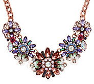 As Is Joan Rivers Pastel Crystal Blossom Statment Necklace - J333042