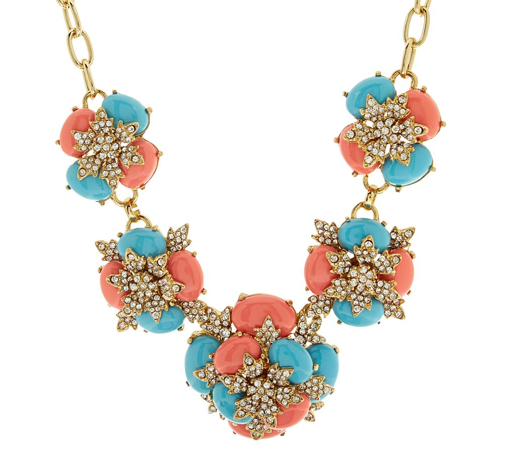 As is joan rivers jeweled cabochon 18 statement for Joan rivers jewelry necklaces