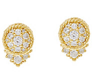 Judith Ripka 14K Gold 1/2 cttw Diamond Stud Earrings - J334842