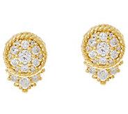 Judith Ripka 14K Gold 1/2 cttw Diamond Stud Earrings - J334842