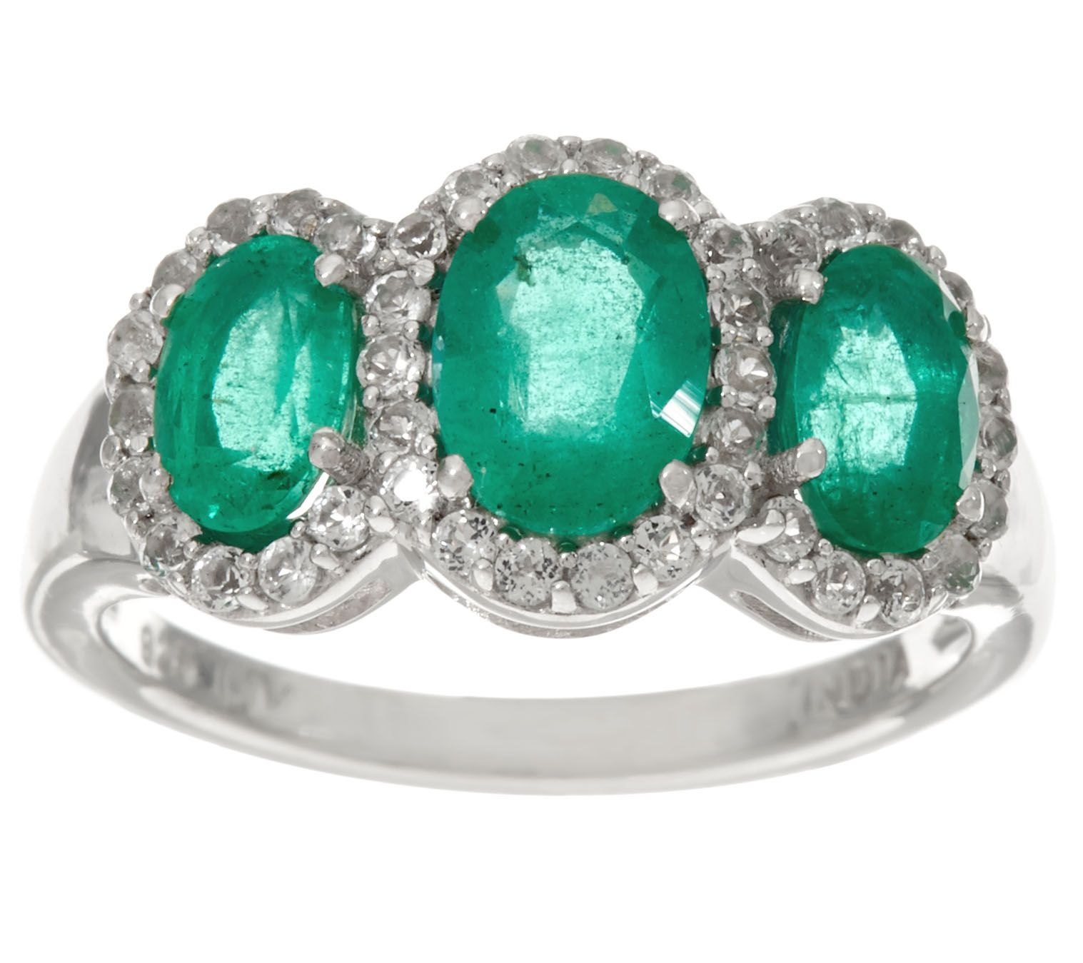 page green gemstone ring qvc topaz precious rings sterling product com stone white