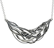 Sterling Silver Polished Multi-Leaf Necklace by Or Paz - J347842