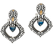 Barbara Bixby Sterling/18K Blue Topaz Interchangeable Earrings - J349842