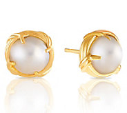 Peter Thomas Roth 18K Gold and Mabe Pearl Button Earrings - J350242