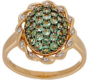Alexandrite Cluster and Diamond Ring, 14K, 1.00 cttw - J353542