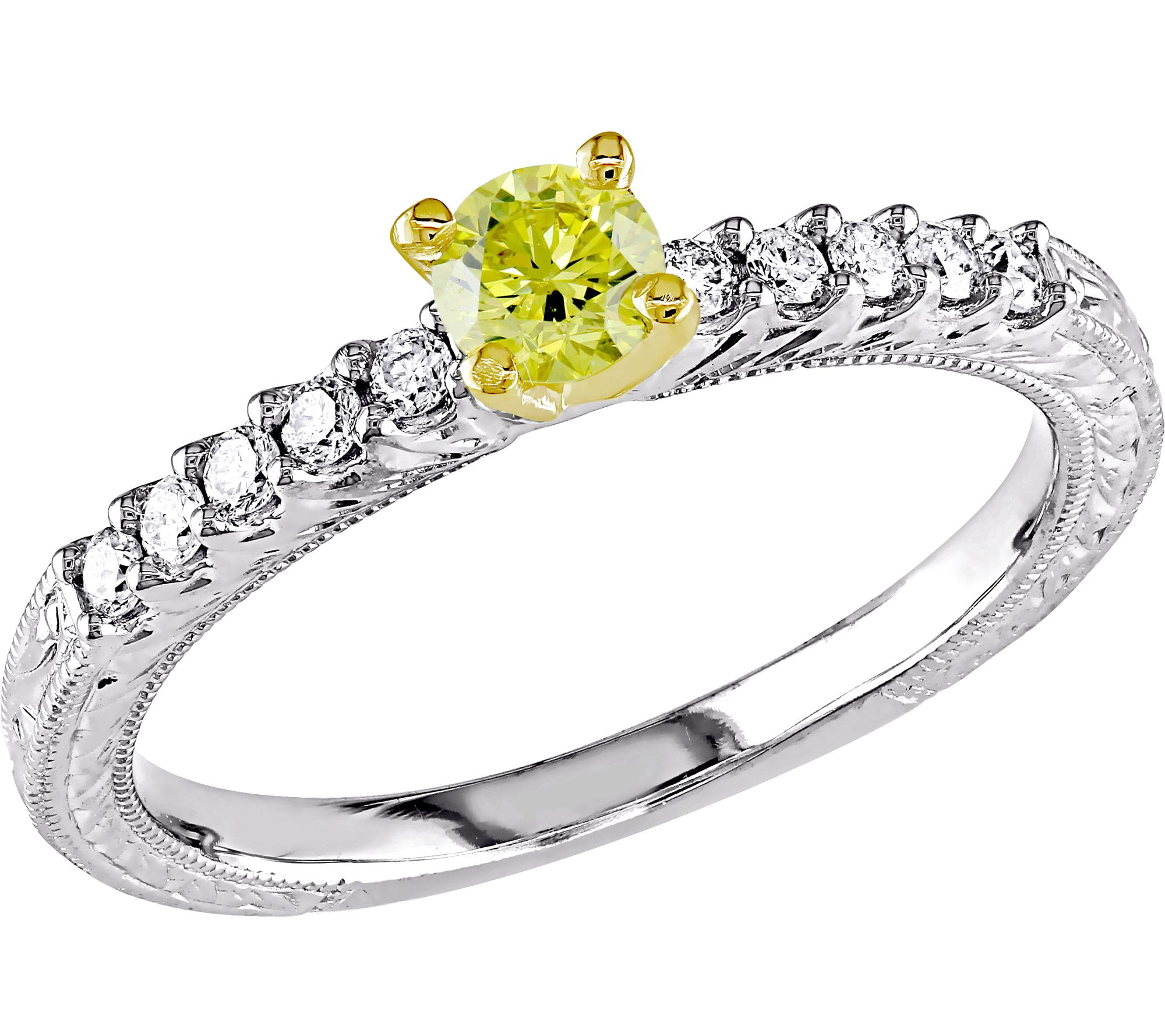yellow engagement ring 14k 1 2 cttw by affinity