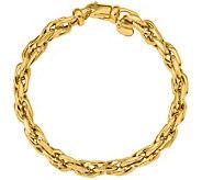 Italian Gold Bold Oval Link Bracelet 14K, 11.9g - J377642