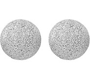 Italian Silver Textured Ball Post Earrings - J380142
